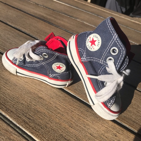 Converse All Star Navy Hi Top Sneakers for infants